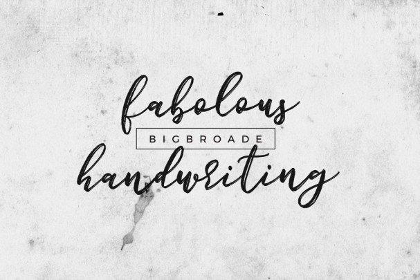 Download Bigbroade font (typeface)