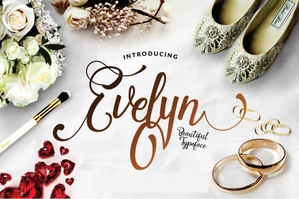 Download Evelyn Script font (typeface)