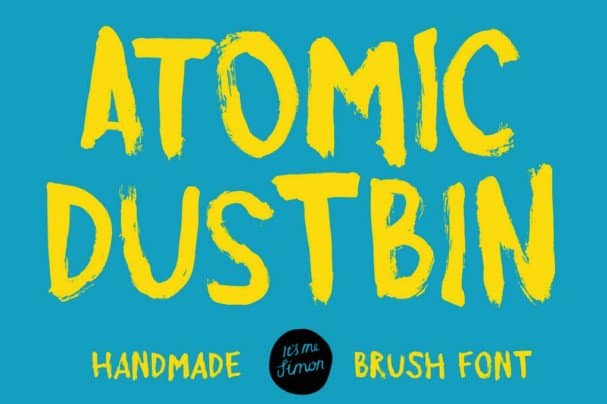 Download Atomic Dustbin font (typeface)
