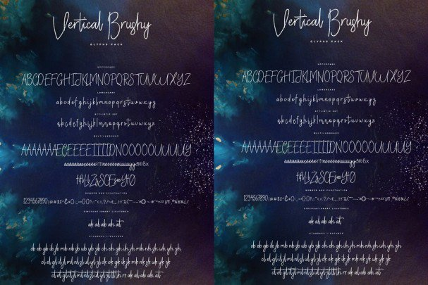 Download Vertical Brushy - Dry Brush Typeface font (typeface)