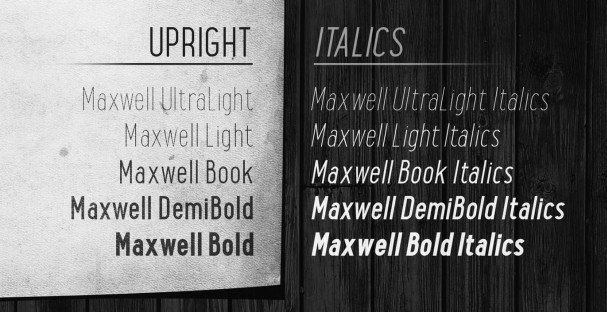 Download Maxwell Sans Book font (typeface)