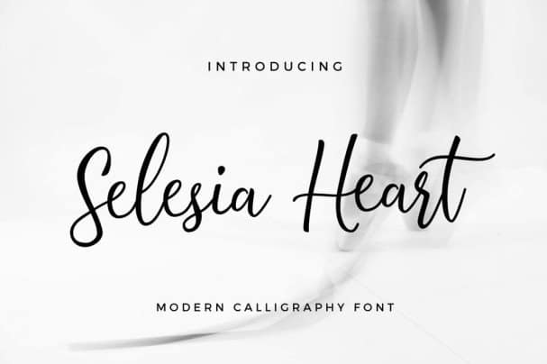 Download Selesia Heart font (typeface)