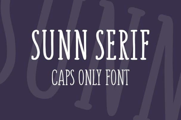 Download SUNN Serif Caps Only font (typeface)