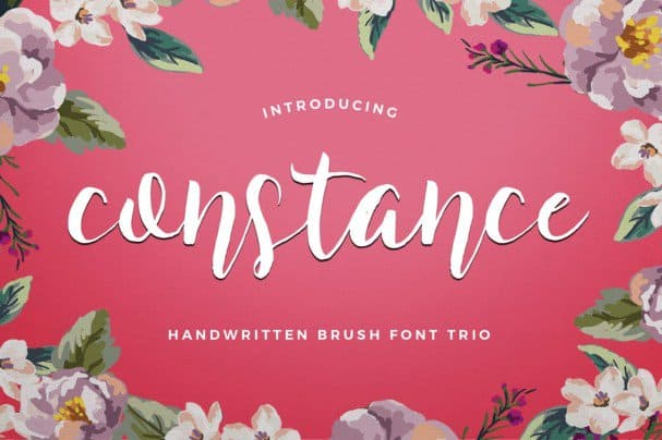Download Constance Brush Trio font (typeface)