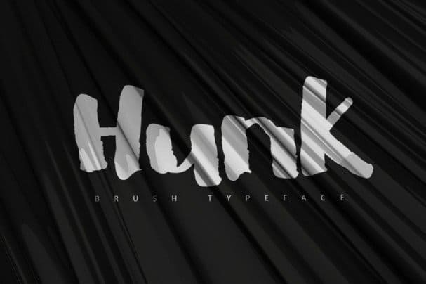 Download Hunk Brush Typeface font (typeface)