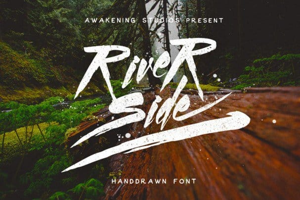 Download River side font (typeface)