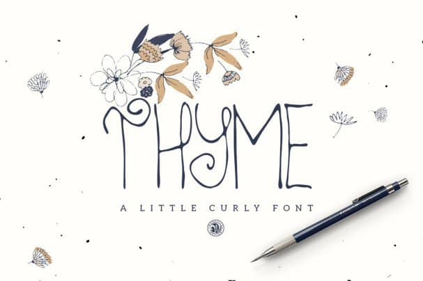 Download Thyme Font font (typeface)