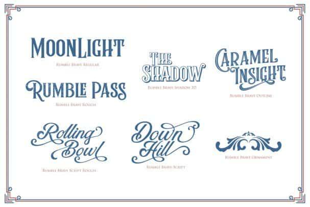 Font Rumble Brave Vintage Fonts Free Download Typeface