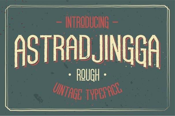 Download Astradjingga Rough font (typeface)