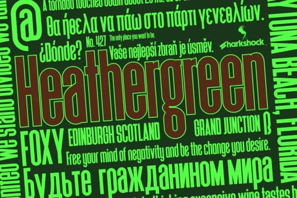 Download Heathergreen font (typeface)