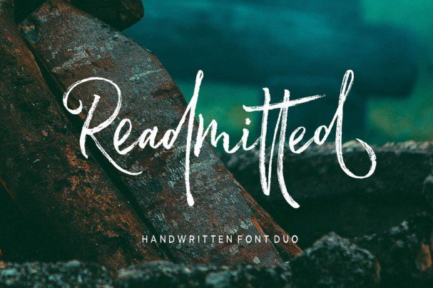 Download Readmitted Script font (typeface)