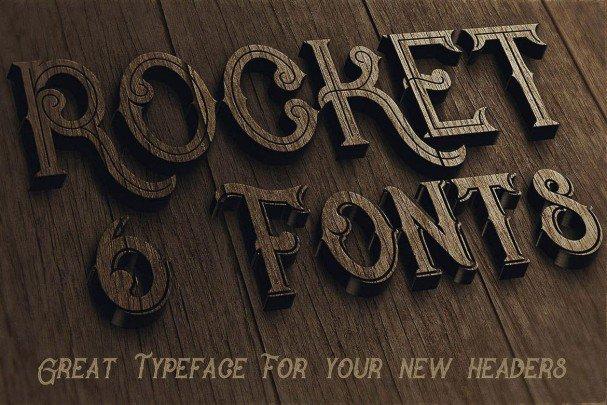 Download Rocket- Vintage Style font (typeface)