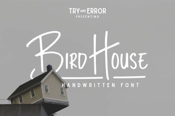 Download Bird House font (typeface)