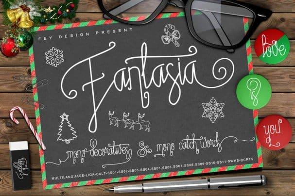 Download Fantasia - Script Monoline Font font (typeface)
