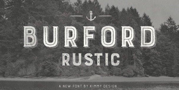 Download Burford Rustic Extrude One font (typeface)