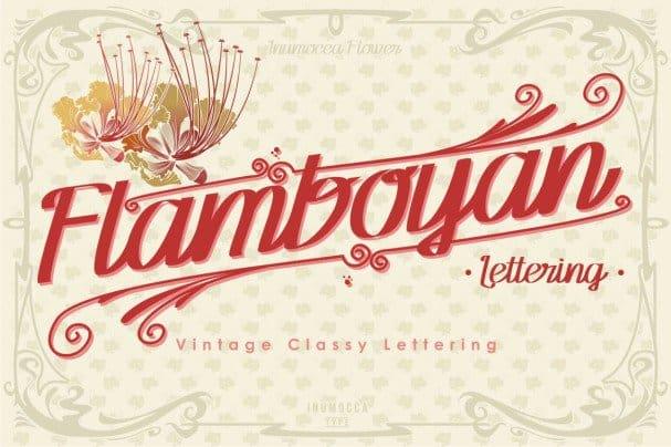 Download Flamboyan font (typeface)