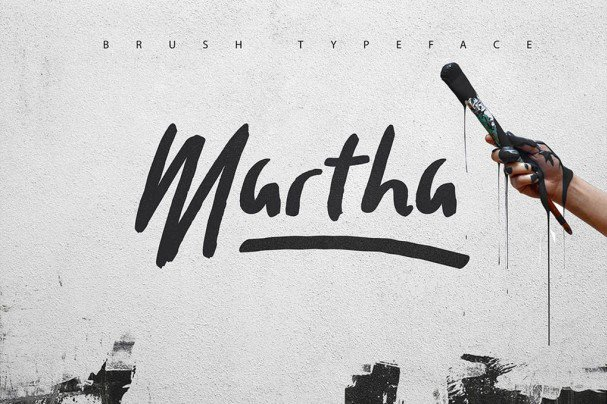 Download Martha Brush Typeface font (typeface)