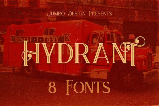 Download Hydrant - Vintage Style Font font (typeface)