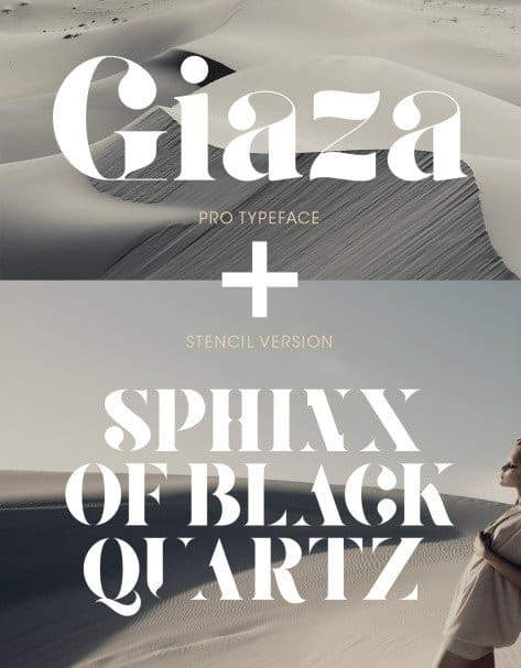 Download Giaza font (typeface)