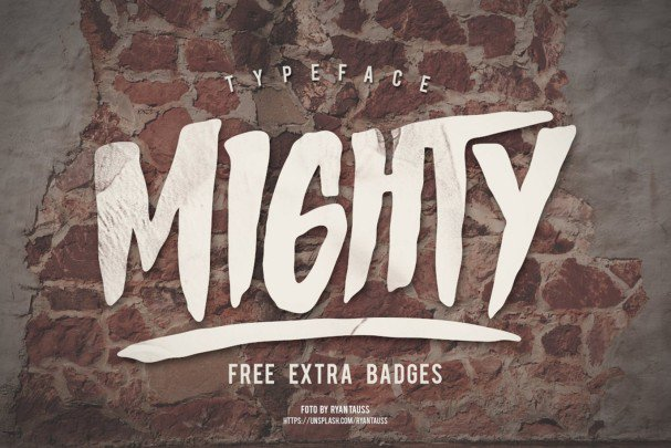 Download Mighty Typeface font (typeface)