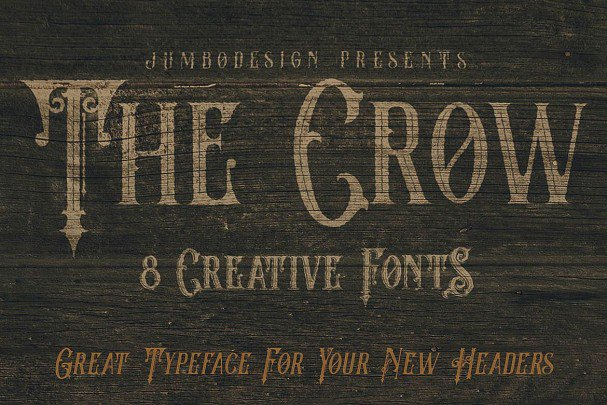Download The Crow - Vintage Style Font font (typeface)