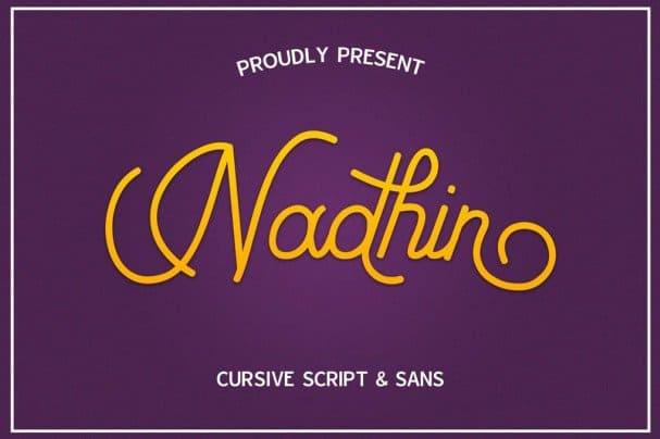 Download Nadhin Script & Sans font (typeface)
