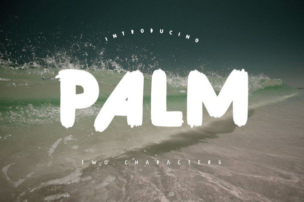 Download Palm Brush font (typeface)
