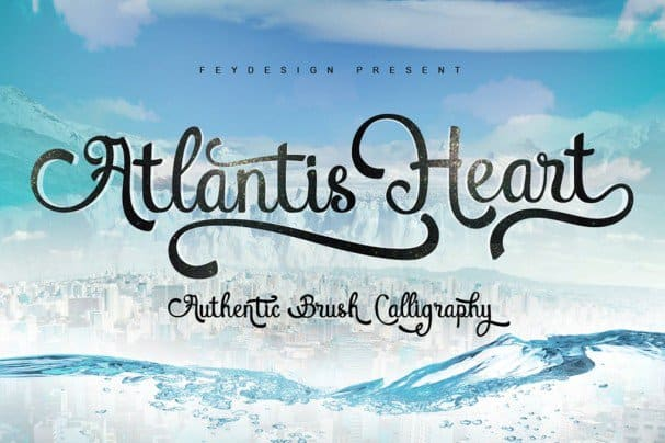Download Atlantis Heart Font font (typeface)