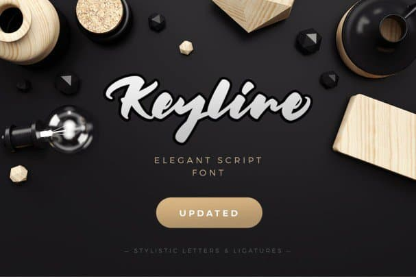Download Keyline Script Font font (typeface)