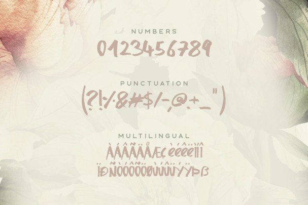Download Honeysuckle Typeface font (typeface)