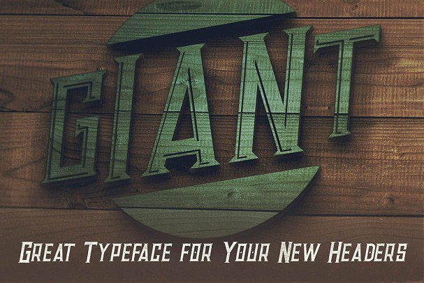 Download Giant - Vintage Style Font font (typeface)