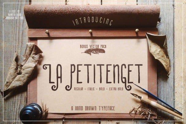 Download La Petitenget font (typeface)