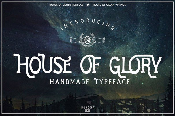 Download House Of Glory font (typeface)