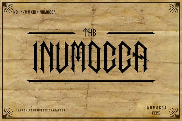 Download The Inumocca complete font (typeface)