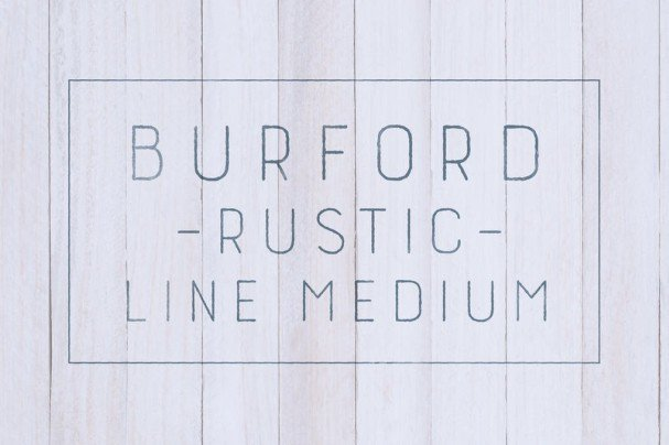 Download Burford Rustic Line Medium font (typeface)