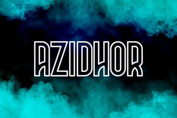 Download Azidhor typeface font (typeface)