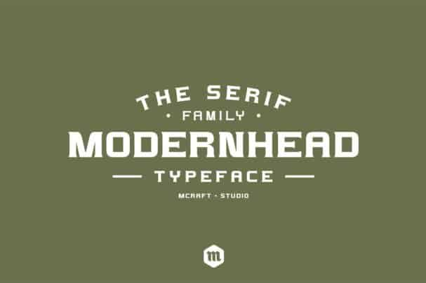 Download Modernhead Serif Typeface font (typeface)
