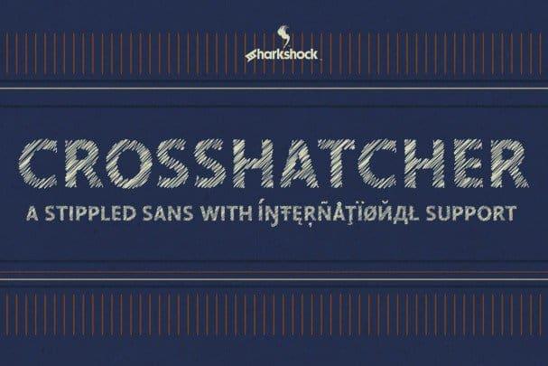 Download Crosshatcher font (typeface)