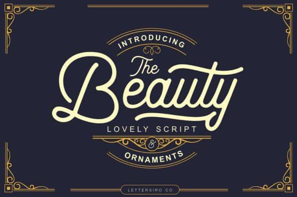 Download The Beauty Script font (typeface)