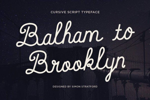 Download Balham to Brooklyn font font (typeface)