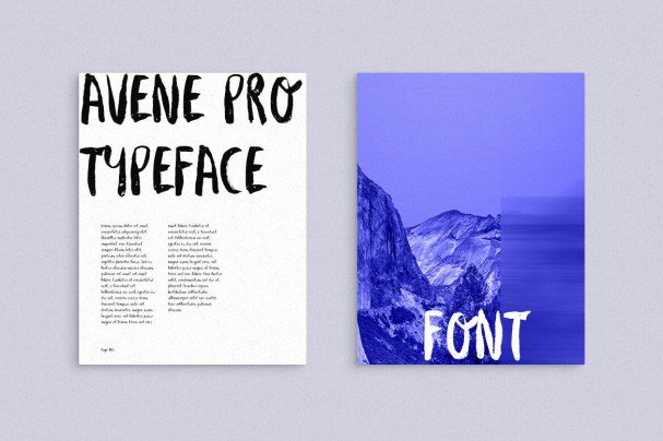 Download Avene PRO Brush font (typeface)