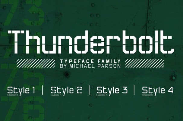 Download Thunderbolt font (typeface)