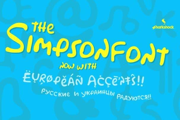 Download Simpsonfont font (typeface)