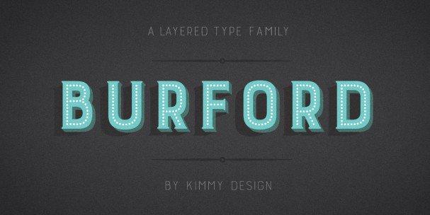 Download Burford Outline font (typeface)
