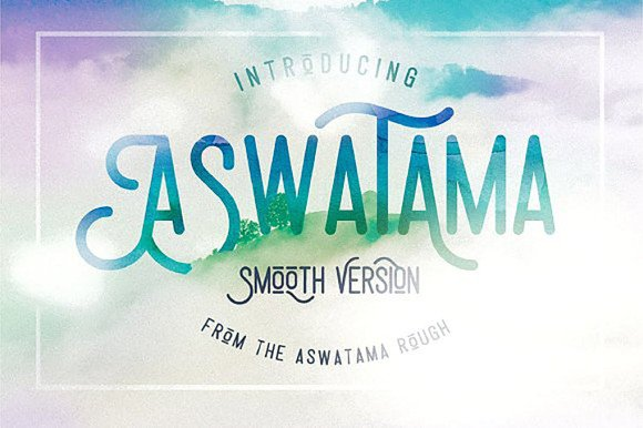 Download Aswatama Smooth Version font (typeface)