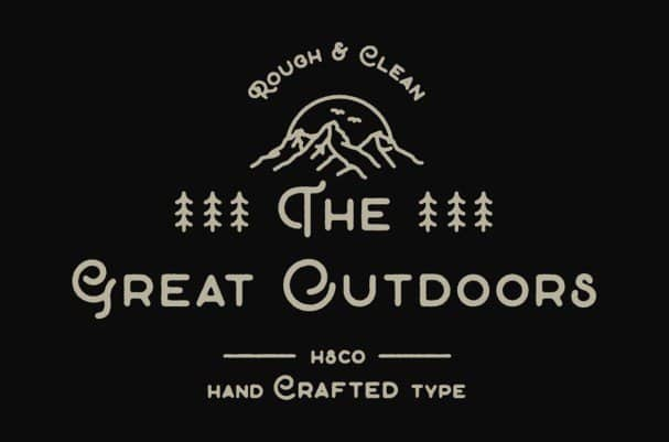 Download The Great Outdoors font (typeface)
