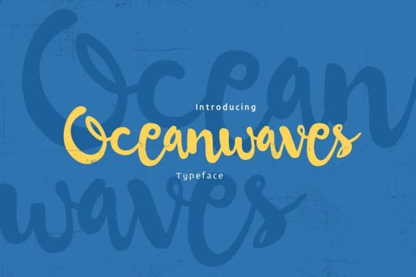 Download Oceanwaves Typeface font (typeface)
