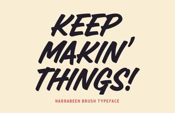 Download Narrabeen Brush font (typeface)