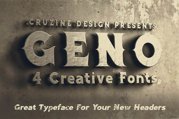 Download Geno Typeface font (typeface)