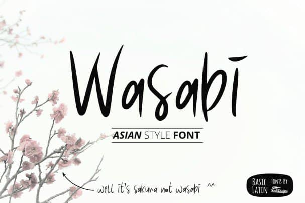 Download Wasabi Asian Style Font font (typeface)